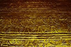 Stargate (micheledibitetto) Tags: stargate hieroglyphics egypt temple ruins edfu horus hawk darkness dark shade yellow art relief archaeology