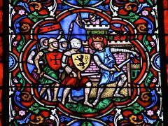 Dijon / Église Notre-Dame - Vitrail (Charles.Louis) Tags: bourgogne dijon côtedor église vitrail lion blason écu patrimoine histoire