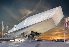 EYE (mcalma68) Tags: eye filmmuseum amsterdam ps lr sunset sky architecture street