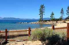 Red Fence, Lake Tahoe, NV 9-10 (inkknife_2000 (8 million views +)) Tags: laketahoe nv sandharbor tealgreenwater dgrahamphoto fence picketfence