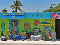 Matlacha Menagerie (Atelier Teee) Tags: pirate airstreamcooler pickupcooler manatee alligator flipflop pelican fishbones vwbuscooler mahimahi sun shirt driftwood gecko firedepttrussidbadge windchimes