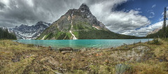 Chephern Lake Panorama - 1 (John Payzant) Tags: hdr panoraama banff park alberta canada howse peak mt chephern lake