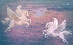 Tenderness (Auroraselina) Tags: sky sunset pegasus clouds fantasy