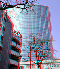 WTC Rotterdam 3D (wim hoppenbrouwers) Tags: wtc rotterdam 3d anaglyph stereo redcyan worldtradecenter