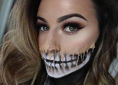 Skull | Skeleton Halloween Makeup , #makeup , FB: http://ift.tt/2p9bdT1 (ineedhalloweenideas) Tags: skull | skeleton halloween makeup costume happy h