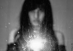 Inside me (self) (Georgina ♡) Tags: selfie self portrait people female blur mystery blackandwhite monochrome