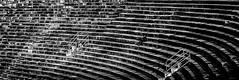 Solitude (Tiigra) Tags: verona veneto italy it 2011 architecture monochrome people rhythm ruin shadow shape stairs pattern