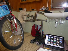 Last toilet stay (Stop carbon pollution) Tags: japan 日本 honshuu 本州 touhoku 東北 fukushimaken 福島県 cycletouring 自転車ツーリング