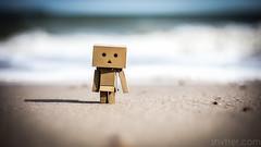 Bathing (#Weybridge Photographer) Tags: adobe lightroom canon eos dslr slr mk ii danbo danboard kiyohiko azuma manga cardboard box amazon robot character figure coast sea sand beach bathing swim swimming