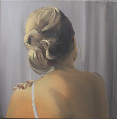 H seen on the back (MarcoH from Holland) Tags: frozen shoulder oil painting canvas people portrait
