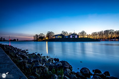 Another night at the river VI (Robert Stienstra Photography) Tags: rhine river riverbanks riverscape riverrhine riverscapes riverside dutchriver landscape landscapephotography bluehour bluehourphotography sunset sunsetphotography sunsets sunsetporn reflection reflections tree trees twilight outdoor tokina1224mm robertstienstraphotography wageningen gelderland geldersestreken waterscape waterscapes beach water lake dusk sky