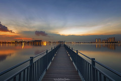 TRANSITION (ChieFer Teodoro) Tags: canon 6d 1635mm gitzo gt2541 arca swiss z1 pcl6dr phottix aion landscape nightscape long exposure blue hour sunset singapore pandan reservoir water reflection jetty