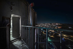 Radar Access (Dirt Chamber) Tags: exploring elevated view tall night moody trespass infiltration urbex tower rooftop