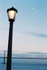 (j.farrimond) Tags: film blue pacific sanfrancisco evening sunset lights haze mist reflection