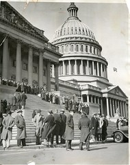 Guard U.S. Capitol against communist unemployed: 1931 (washington_area_spark) Tags: unemployed jobless insurance relief government us capitol washington dc police armed guard lobby communist party 1931 hunger march petition