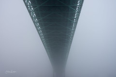 Under the Bridge (Fredrik Lindedal) Tags: bridge mist morning fog foggy moody sweden gothenburg göteborg älvsborgsbron