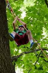DSC_1293 (Montgomery Parks, MNCPPC) Tags: popupinmontgomeryparks bethesda treeclimbing climbatree tree climbingtrees kids children boys girls arborists elmstreeturbanpark spring may may2017 leaves treetrunks toddler