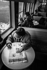 Ferry Ride (Mustafa Selcuk) Tags: 2017 fujifilm istanbul kadikoy street streetphotographer streetphotography streetshooter travel turkey xpro2 ferry blackandwhite bnw bw siyahbeyaz monochrome monochromatic puzzle