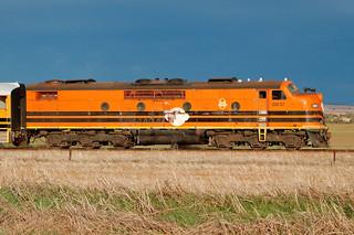 GM37 4M41s loaded ARTC Rail train Merriton RAW 22 05 2017
