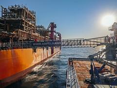 North Sea Bridge (Craig Hannah) Tags: offshore scotland bridge span oil gas platform fpso rig work walk crossing craighannah may 2017 ship vessel flotel