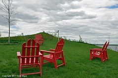 The Hills (Trish Mayo) Tags: chairs redchairs thehills governorsisland