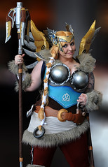 Valkyrie Mercy (Poocher7) Tags: valkyriemercy candycosplay overwatch viking anime cosplay cosplaygirl people portrait armour wings longblondehair ponytail fur staff comicon2017 kitchenercomicon2017 kitcheneron pretty powerful smile norse