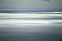 Sparkling sea (explored) (Greenstone Girl) Tags: port philip bay melbourne skyline water sea grey sparkle shimmer victoria