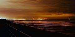 looking towards redcar from saltburn (stephencuthbert) Tags: saltburn redcar wind turbines night sky orange beach sea