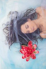 dreamy (Cecilia Rossetto) Tags: ninph ninfa ninfea sea mare azzurro dream dreaming sognante asleep beauty beautiful