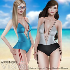 {ViSion} -Swimsuit Amelie @Uber (pjey Pearl .ViSion. Clothing Store) Tags: uber {vision}sf hamptons original maitreya belleza slinkphysique hourglass swimsuit