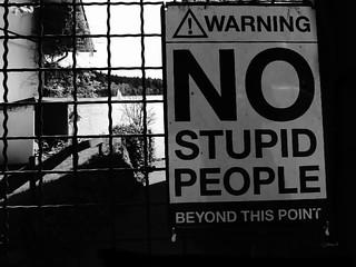 No stupid people ...