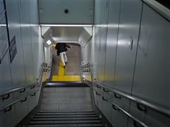 runaway_1330441 (strange_hair) Tags: tokyo japan street subway underground run man stair