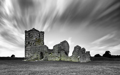 A Haunting Place (Solent Poster) Tags: knowlton church dorset haunted long exposure mono bw