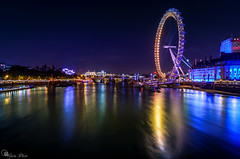 "Reflections of the eye (Ipotx Photo """"Thanks for the 1000 followers!!!"""") Tags: london londres night nightshoot nikon sigma wideangle reflections sea sky colors 1020 d7100 long longexposure largaexposicion noche nocturna thames eye"