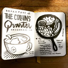Sketchnote: Breakfast at The Collins Quarter! (Mike Rohde) Tags: instagramapp square squareformat iphoneography uploaded:by=instagram ludwig
