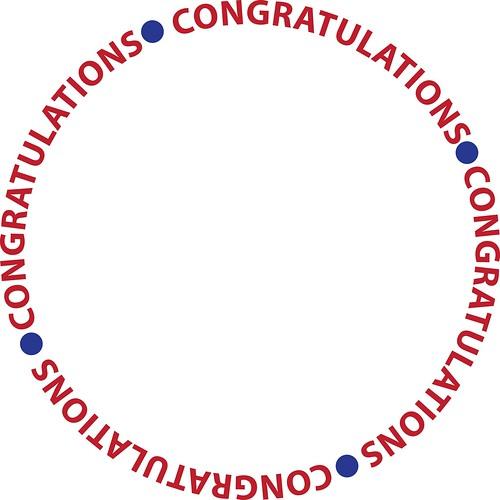congratulations circle