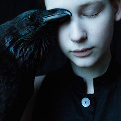 Silence (laura makabresku) Tags: laura makabresku photography dark darkness obscure raven bird black girl pale