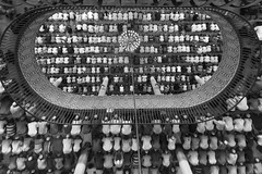 Jummatul Bidah (The Last Jumma). (ziainbd) Tags: crowd blackandwhite ramadan mosque people muslim islamiculture religiousactivity fromabove pov religiousculture prayer culture blackwhite faith