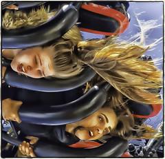 All the fun of the fair (Andy J Newman) Tags: beach sea seaside supermare weston fair fairground ferris girl girls colorefex nikon d500 effect cartoon
