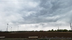 April 20, 2017 - The approaching storm. (ThorntonWeather.com)