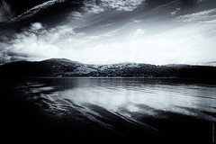 Windermere Wonder (Ian Smith (Studio72)) Tags: canon60d canon1585mm canon uk england cumbria windermere lakewindermere lake lakedistrict ripples water wet floating sailing landscape mountains sky picturesque bw bnw nb blackandwhite mono monochrome contrast shadows studio72