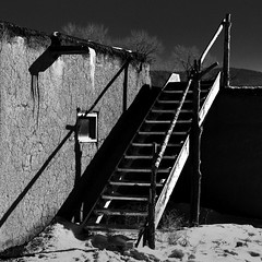 Taos Pueblo No. 26 (Mabry Campbell) Tags: 2016 december h5d50c hasselblad mabrycampbell newmexico santafe taos taospueblo usa unitedstatesofamerica adobe architecture blackandwhite building commercialphotography fineart fineartphotography historic image nativeamerican old photo photograph photographer photography pueblo squarecrop f50 december272016 20161227campbellb0001202 80mm ¹⁄₈₀₀sec 100 hc80 fav10