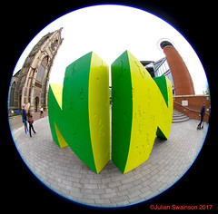 Festival time in Norwich (Rockallpub) Tags: nnfestival forum nn fisheye sigma 45mmf28 100 st peter mancroft canoneos7d straightlinesarecurved fishy 45mmf28exdchsmcircularfisheye