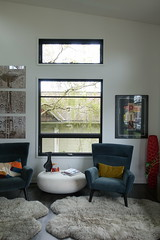 Seating Area w/ Rugs (Heath & the B.L.T. boys) Tags: livingroom modern chair rug spaceneedle art window