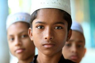 Bangladesh, boys in madrasa