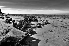 The Ship's Skeleton (Chris Goodacre) Tags: dxofilmpack chrisg35mm eastcoast hunstanton panasoniclumixdmclf1 monochrome