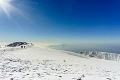 Tanzanian sunrise (Lorrainemorris66) Tags: summit landscape tanzania africa mountain walking hiking bluesky glacier ice cold sunrise snow kilimanjaro