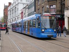 Sheffield Supertram 116 (Boothby97) Tags: sheffieldsupertram tram stagecoach yorkshire siemensduewag sheffield castlesquare 750vdcelectric 750vdc yellowline supertram116 emt eastmidlandstrains