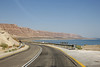 Highway 90 along the Dead Sea