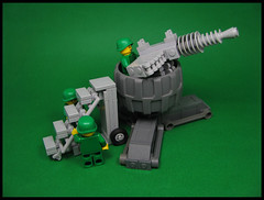 Anti-Aircraft Tower (Karf Oohlu) Tags: lego moc antiaircrafttower machinegun accessstairs minifig soldier guntower gunemplacement